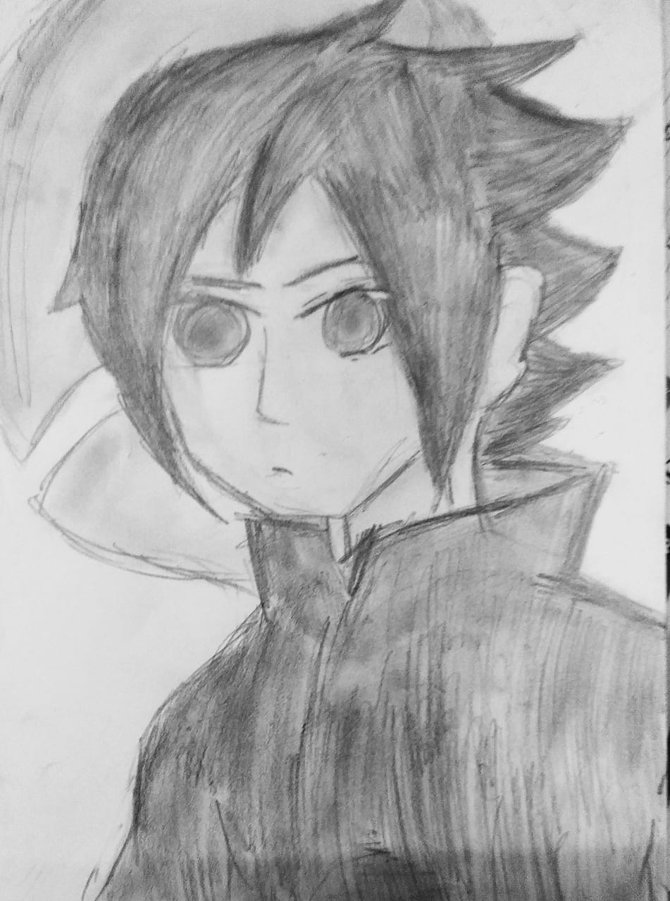 Sasuke😆😆 Illust of Adya_Naromi adya NARUTO sketch Sasuke black anime UchihaSasuke random