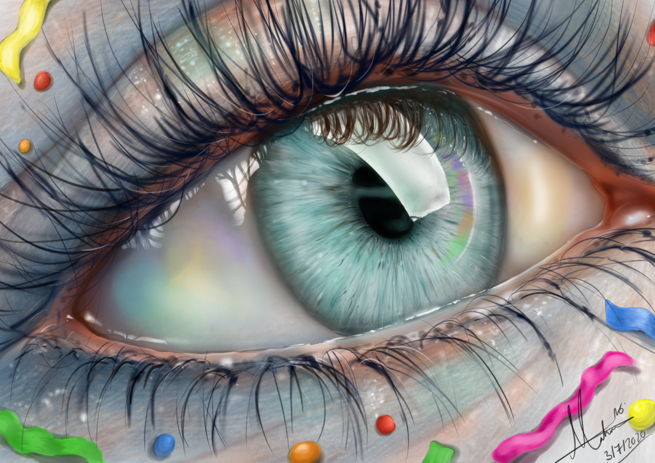 Happy Anniversary  🎉 Illust of Maha July2020_Contest:Anniversary Colorful Happy anniversary eyes