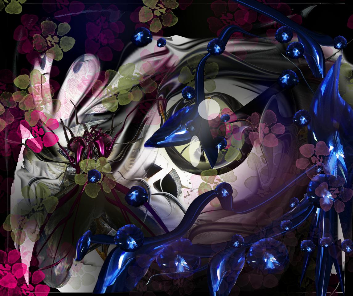 Zoitan il Karma della magia Illust of Grandicelli Susanna MaskDesignContest November2020_Contest:Cyberpunk Natale