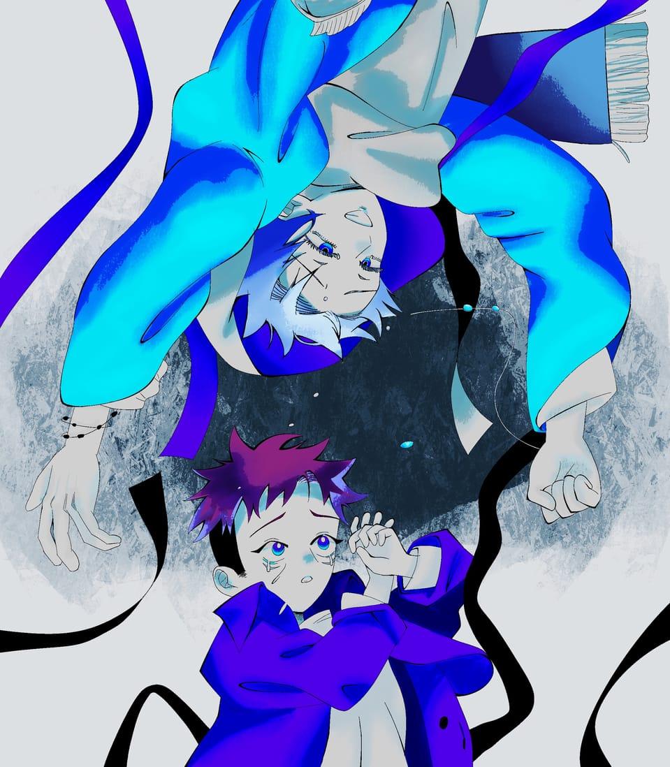 孤独の宗教 Illust of ゆいまる JujutsuKaisenFanartContest ボカロ曲 パロディ Yuji_Itadori 孤独の宗教 JujutsuKaisen boy SatoruGojō syudou