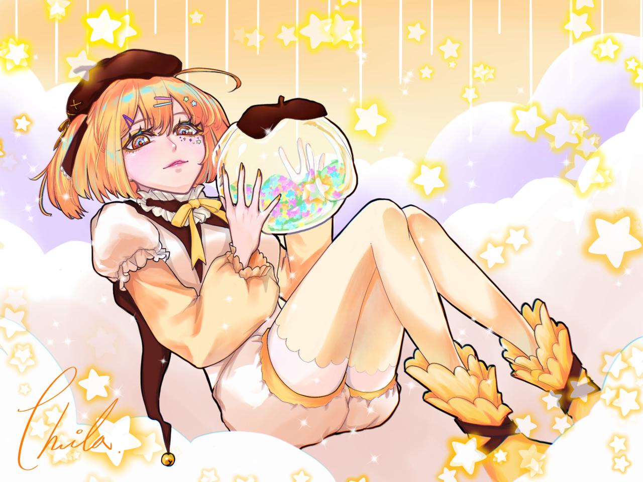布丁🍮 Illust of Phila September2021_Girl yellow cute girl original