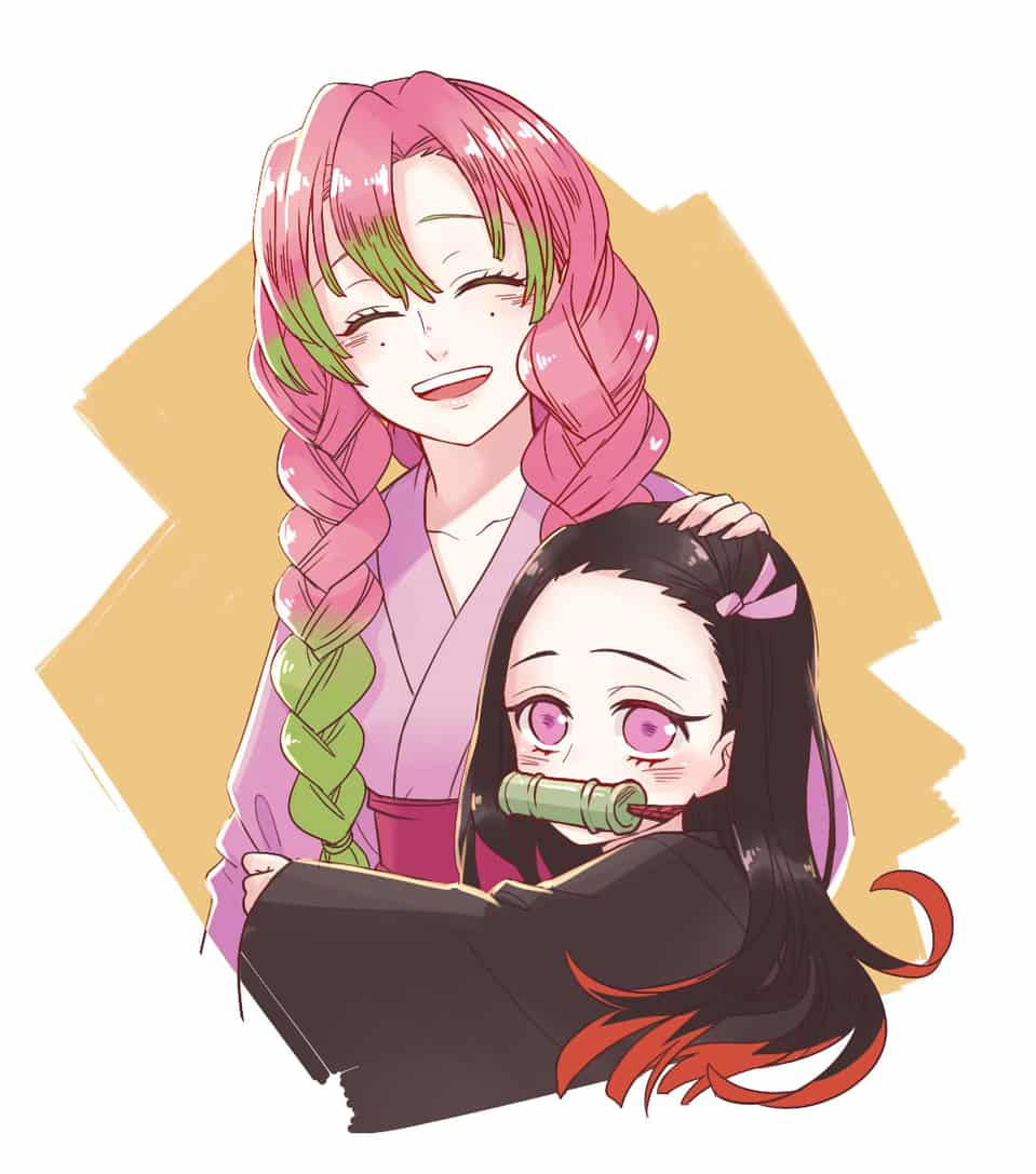 蜜璃+禰豆子♥