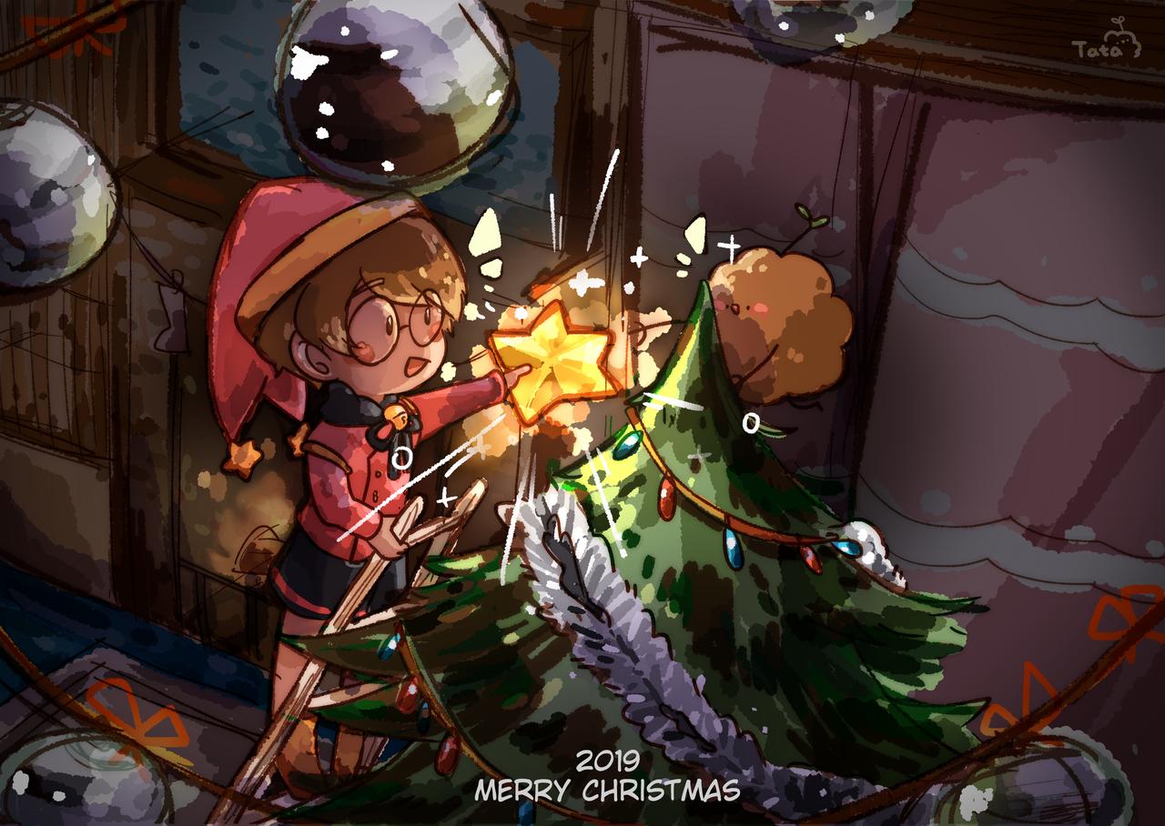 聖誕節 Illust of 塔々 dec.2019Contest medibangpaint doodle 電繪 oc original 繪圖