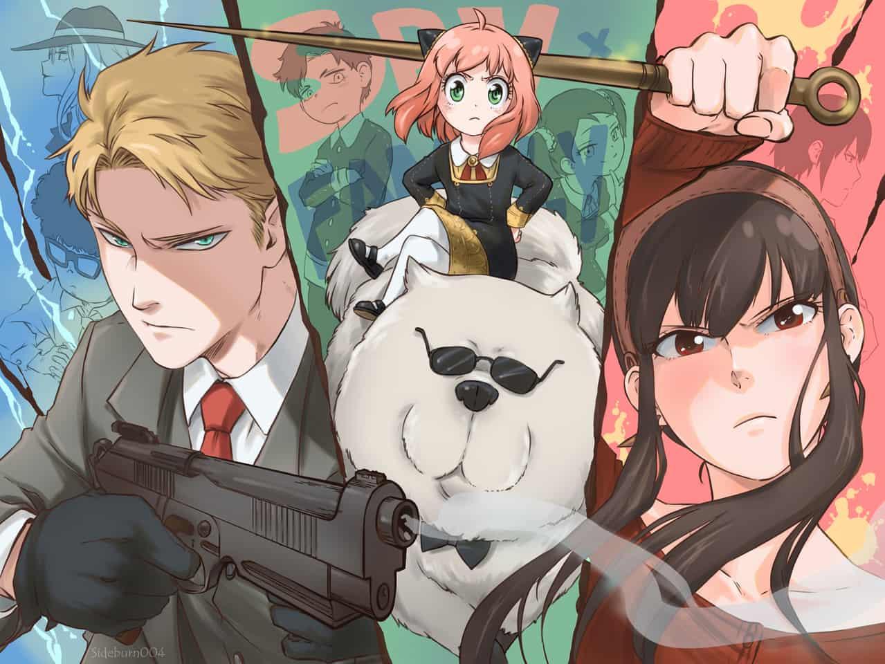 Spy X Family Illust of Sideburn004 SPY×FAMILY_Contest ヨル・フォージャー アーニャ・フォージャー ロイド・フォージャー