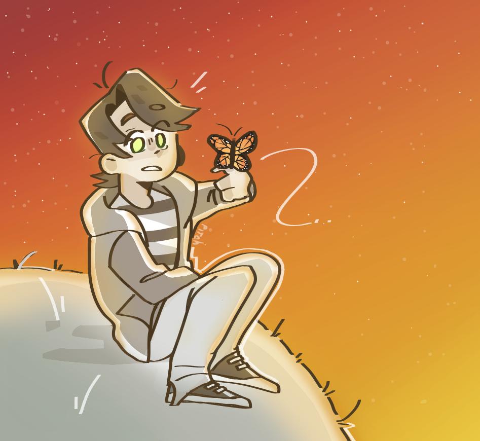 una mariposa :0 Illust of Pitch medibangpaint butterfly doodle oc dawn