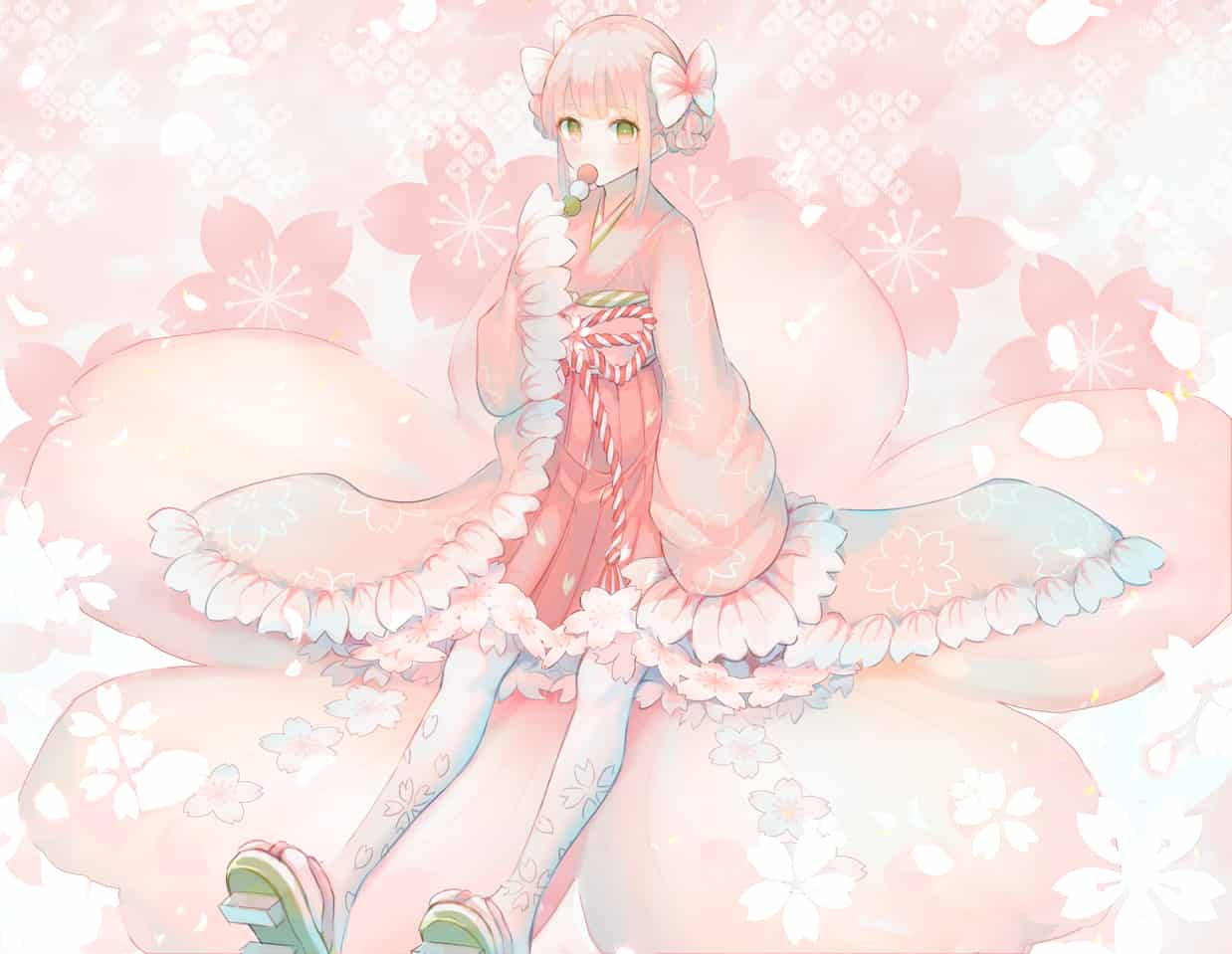 🌸 Illust of もふ ARTstreet_Ranking April.2020Contest:Color girl Japanese_style oc pink sakura kimono original 春