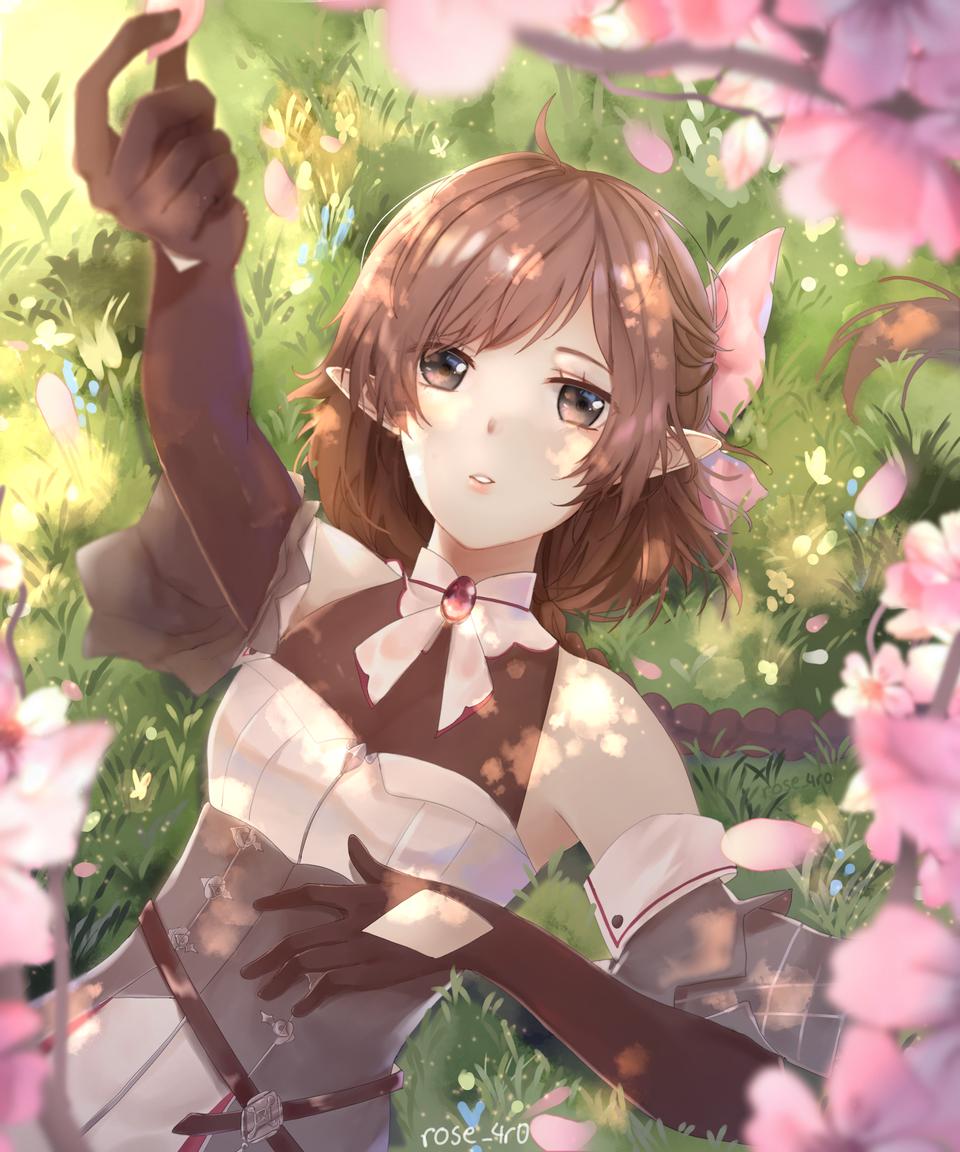 Sunshine  Illust of rose_4r0 January2021_Contest:OC oc girl Tree sakura flowers