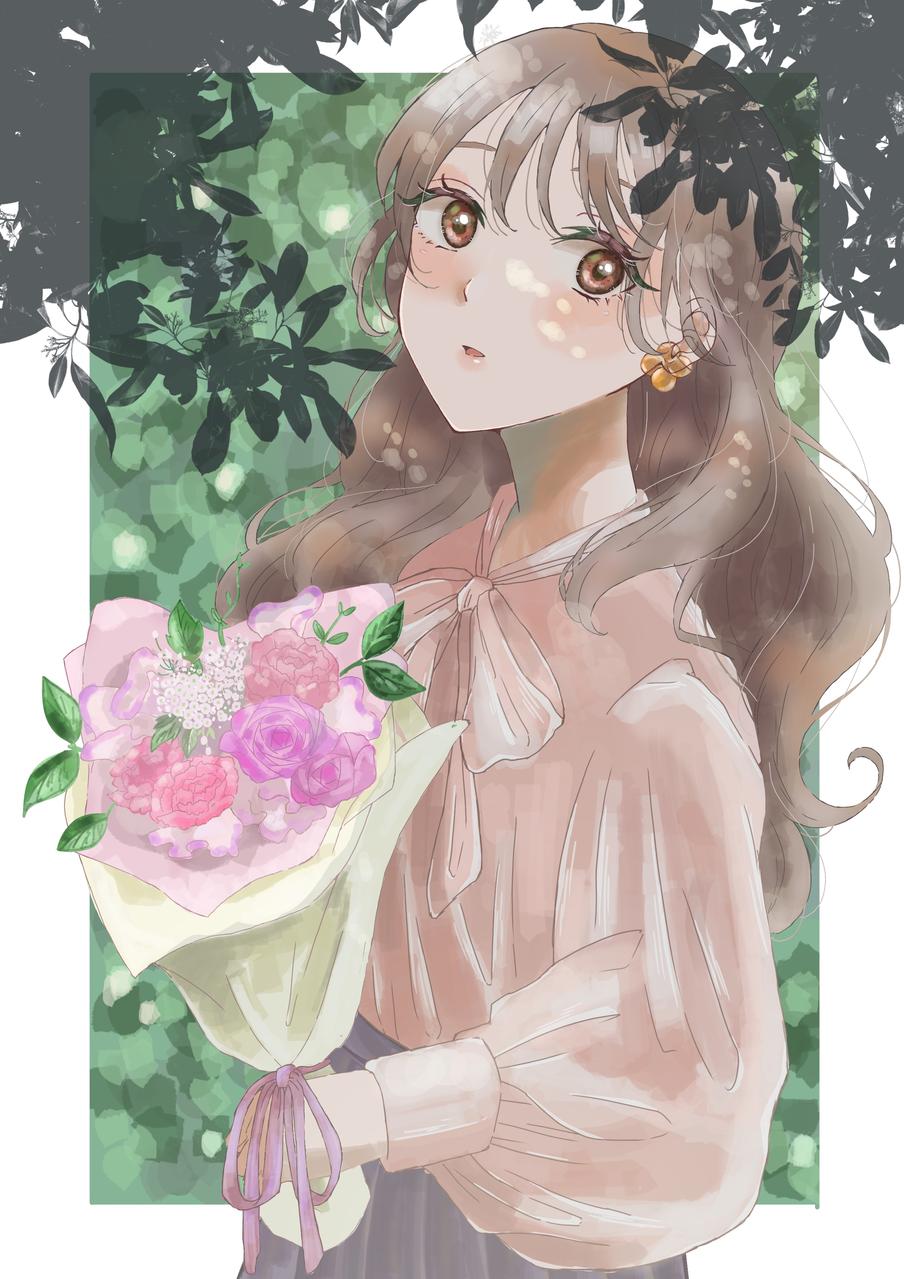 花束 Illust of ふぁりりん April2021_Flower medibangpaint woman