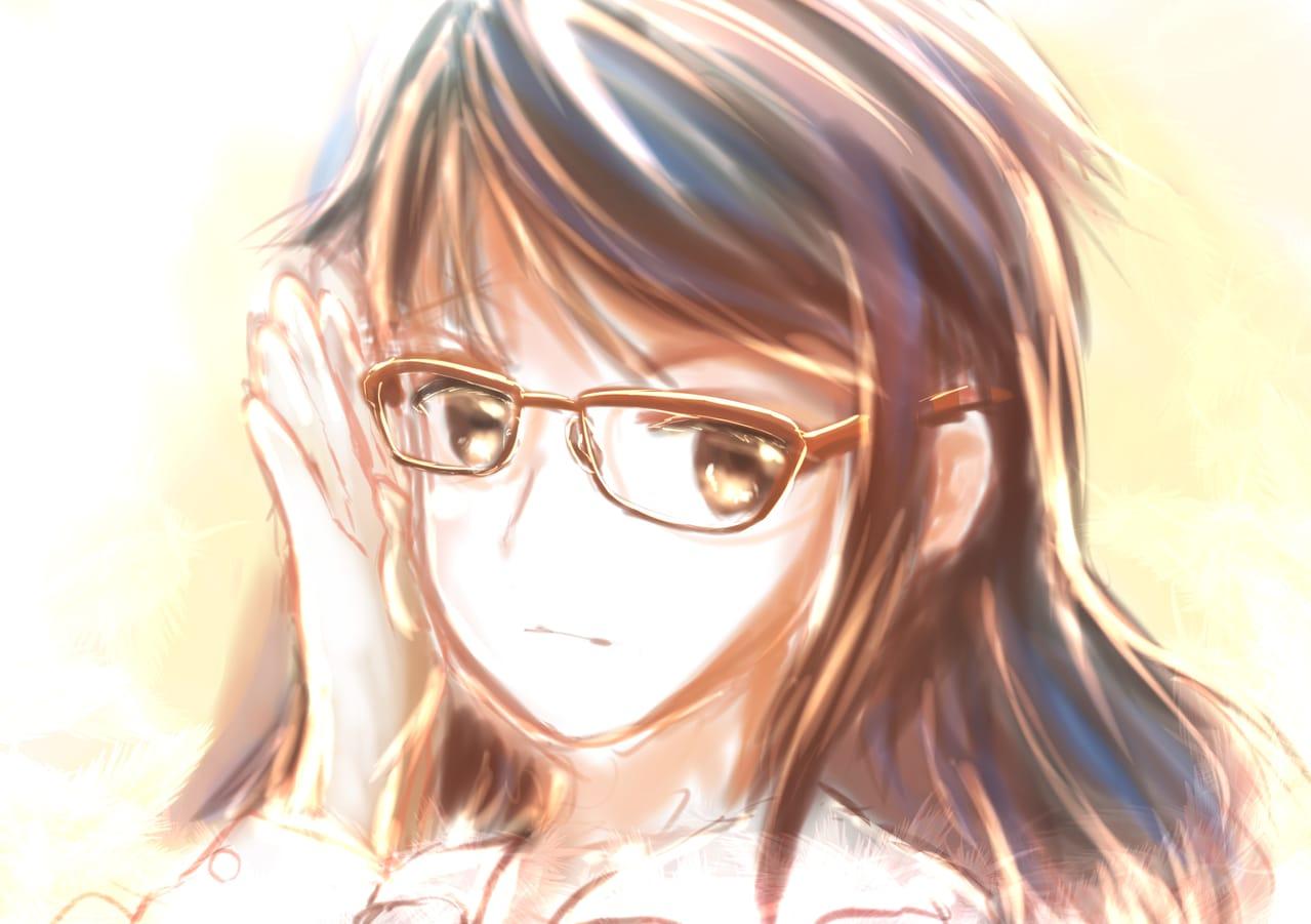 メガネ Illust of 88里 original glasses レッツワンドロ ワンドロ
