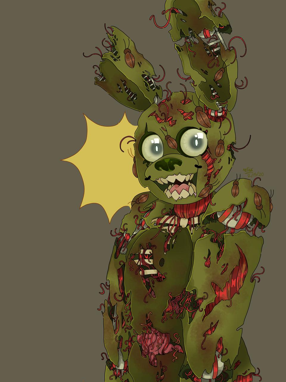pooptrap Illust of BunnyBrainz medibangpaint springtrap FiveNightsatFreddy's