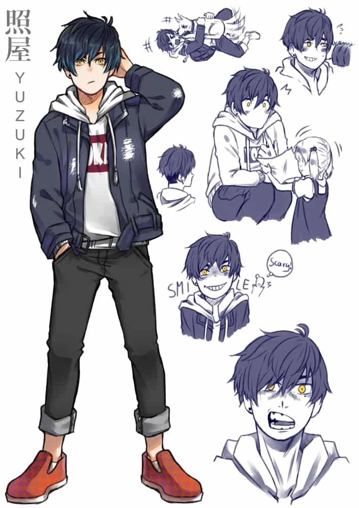 My Ideal Husbando - Takahiro Illust of 影山YUZUKI MyIdealHusbando MyIdealWaifu_MyIdealHusbandoContest GoldenEyes black_blue_hair
