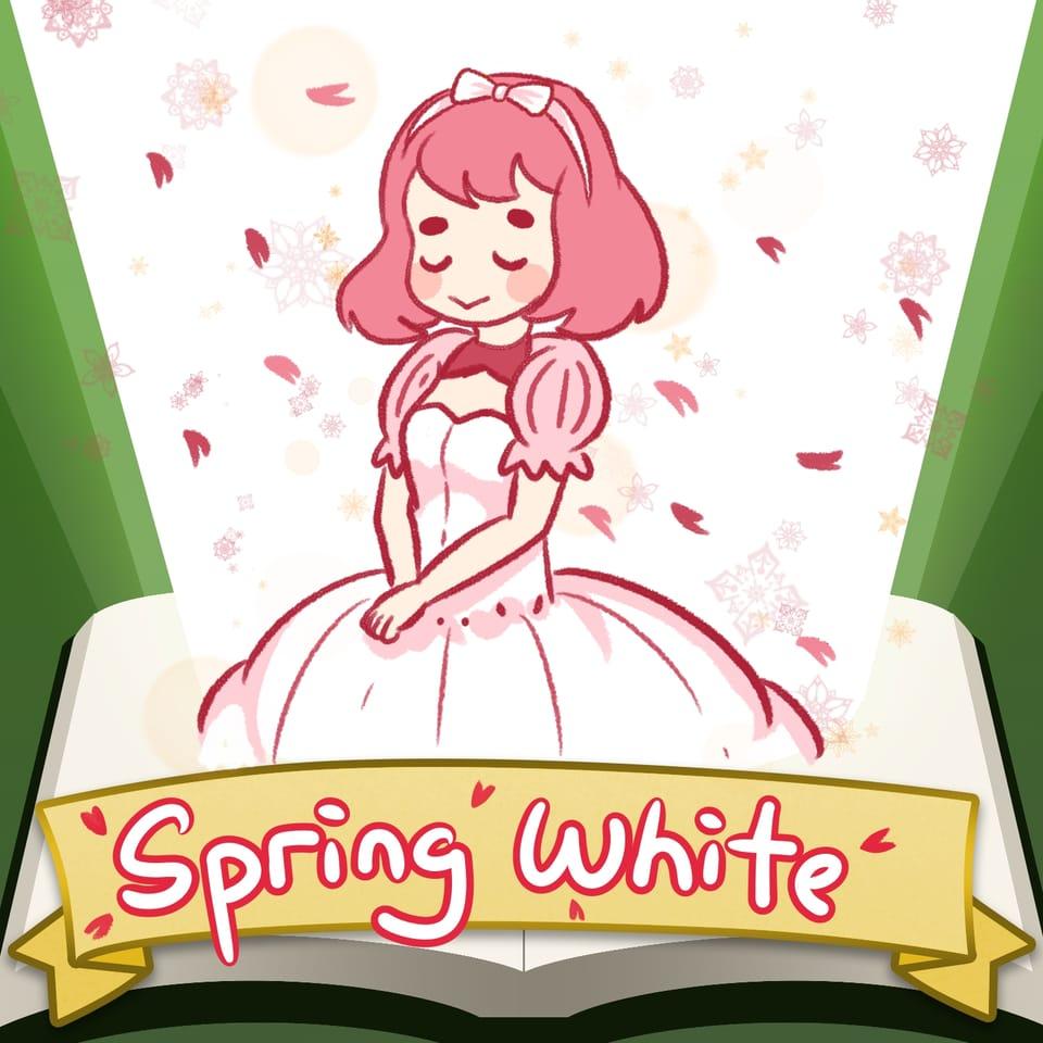 Spring White Illust of xiin_ruu_ SoBadItsGood fanart fanfic medibang art sakura girl MyArt cute illustration