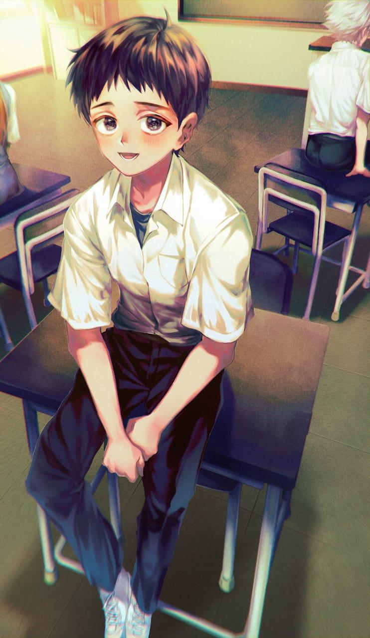 碇 シンジ Illust of 豆菓 碇シンジ ショタ EVANGELION boy エヴァンゲリヲン schooluniform