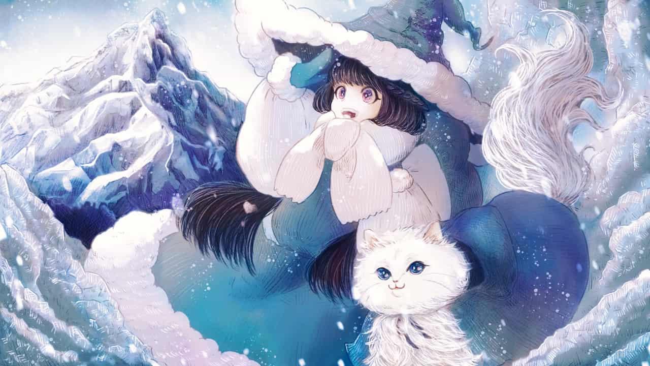 魔女たちの旅立ち Illust of 伊砂祐李 (Yuri Isa) girl witch イメージイラスト fanart cat snow 黒髪