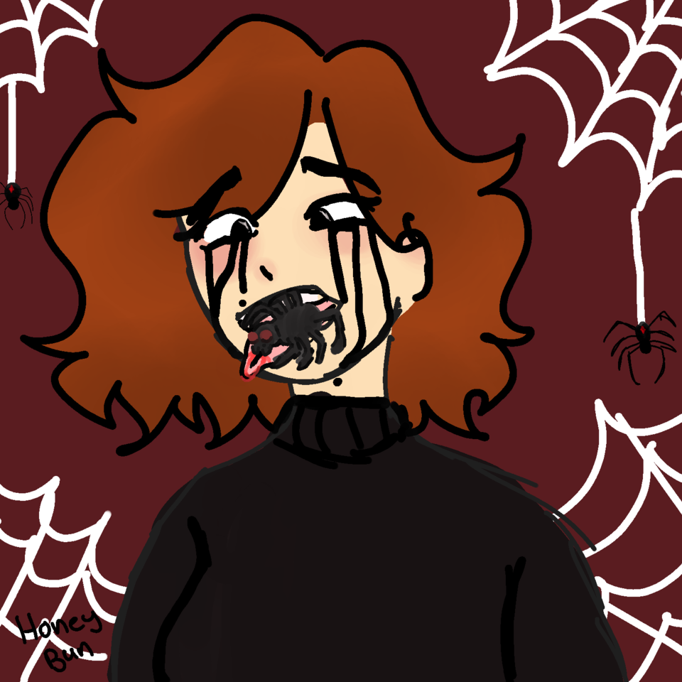 """Spider"" Illust of 𝔥𝔬𝔫𝔢𝔶𝔟𝔲𝔫 spider medibangpaint inktober2020 Inktober Halloween medibang goretober weird"