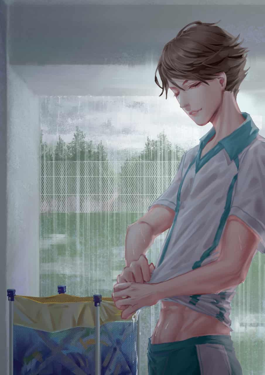 雨天。 Illust of AKAjiuji ARTstreet_Ranking boy impasto AobaJohsaiHighSchool TōruOikawa Haikyu!! rain