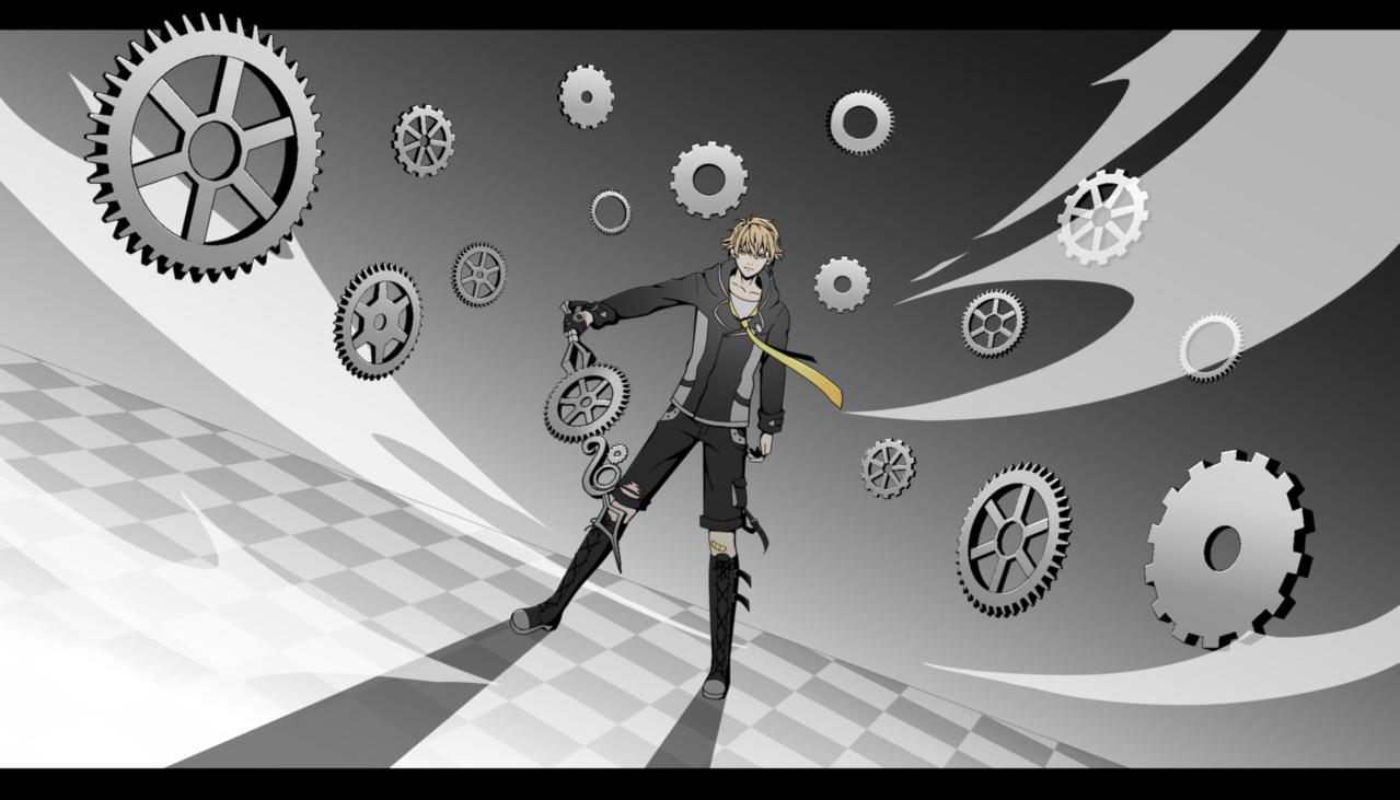 Magical  Boy  Illust of B e e 48...🐝 Post_Multiple_Images_Contest cute girl yelloweyes boy manga original Gears oc digital