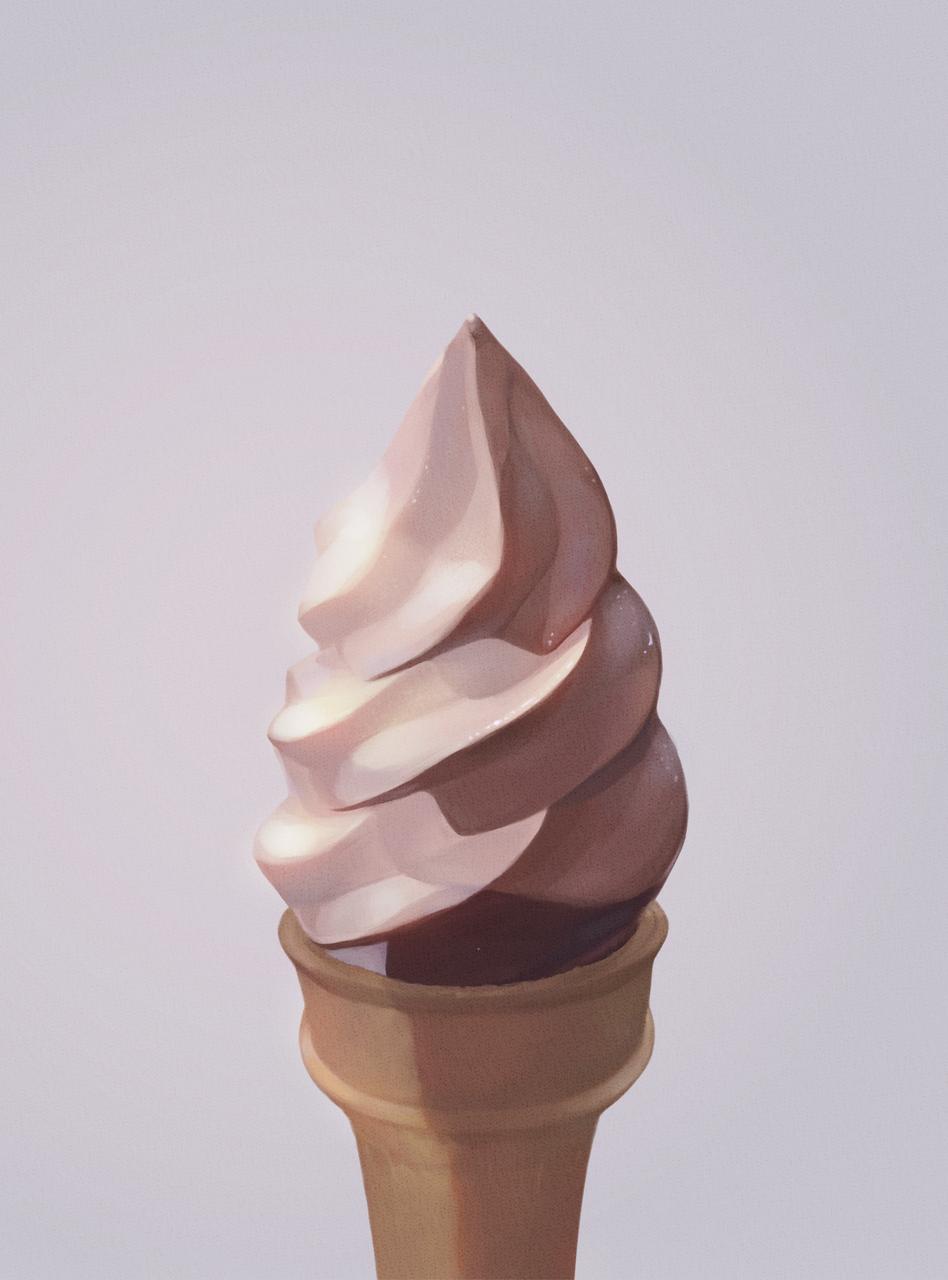 ice cream Illust of FluffyOmelette medibangpaint cute summer ice-cream dessert