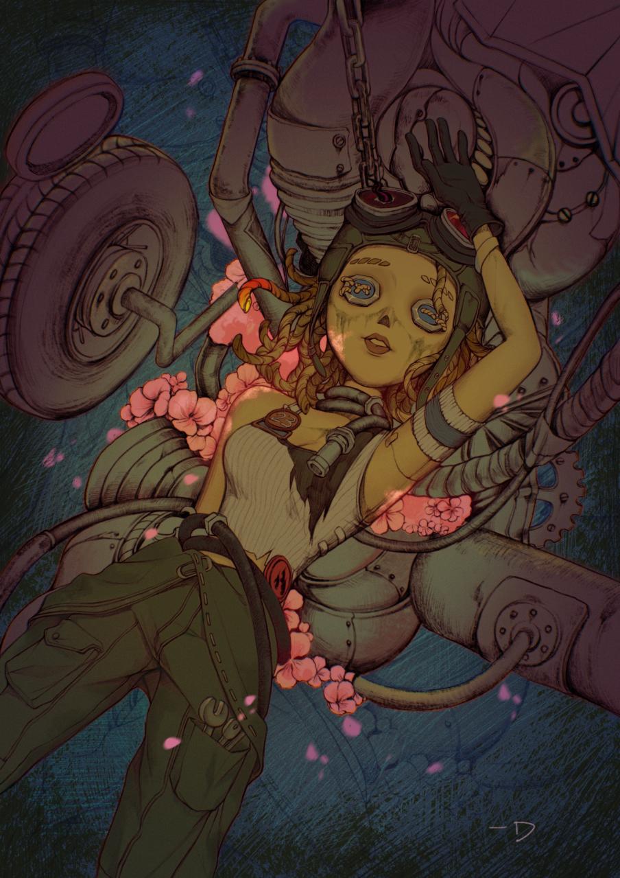 盛开 Illust of 一口酉 February2021_Fantasy girl illustration