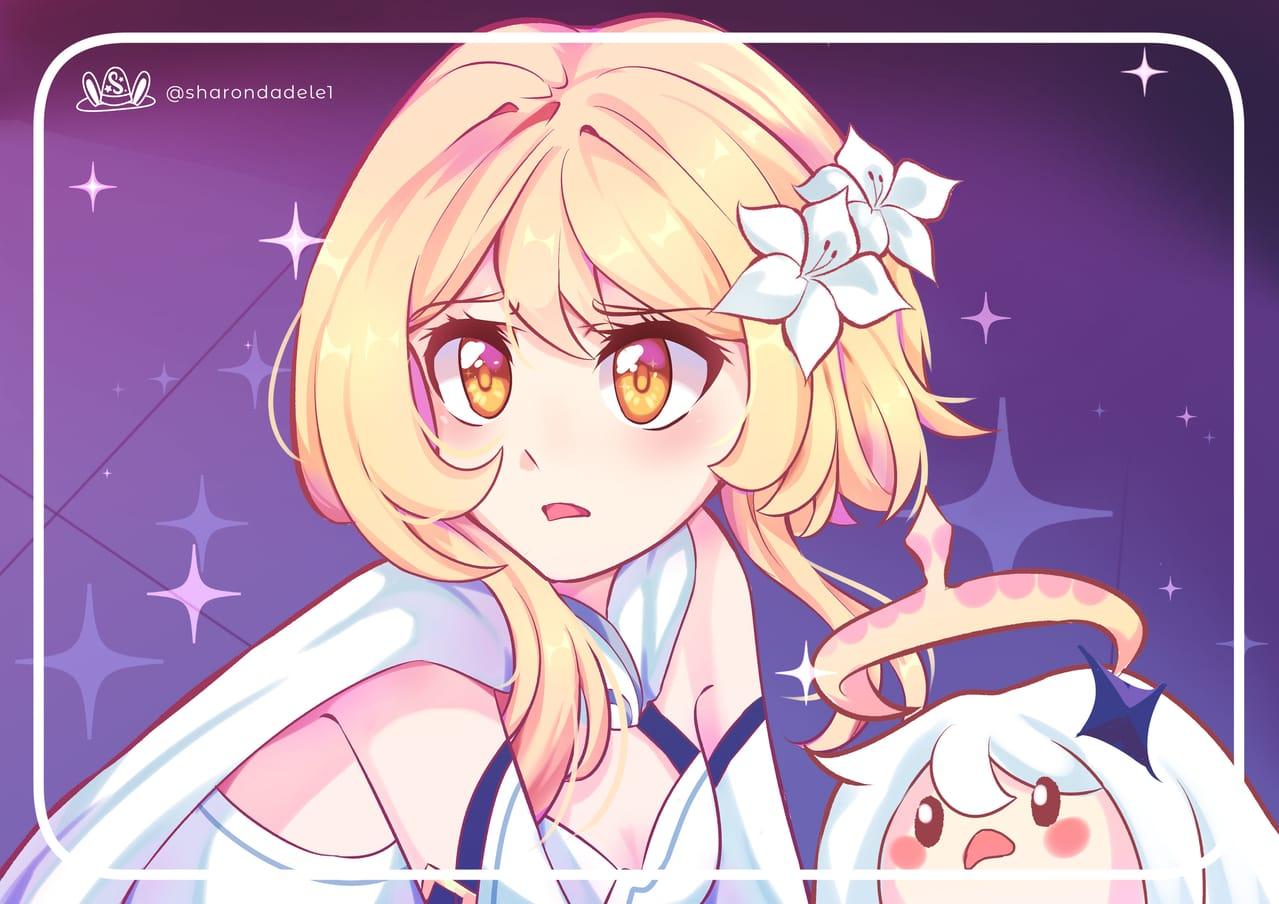 Lumine ( Sailor Moon Draw Challenge) Illust of SharonDa12 animegirl genshinimpactart drawing sailormoonredraw paimon meme anime genshinimpactfanart Lumine challenge