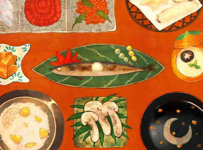 和食 Illust of もふ ARTstreet_Ranking food Japanese_style autumn original