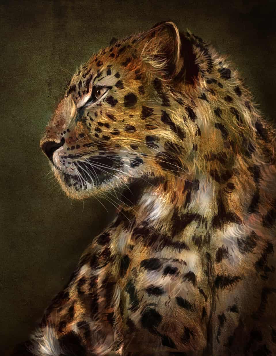 Leopard Illust of kelly April.2020Contest:Color ARTstreet_Ranking color forest Leopard medibangpaint artstreet
