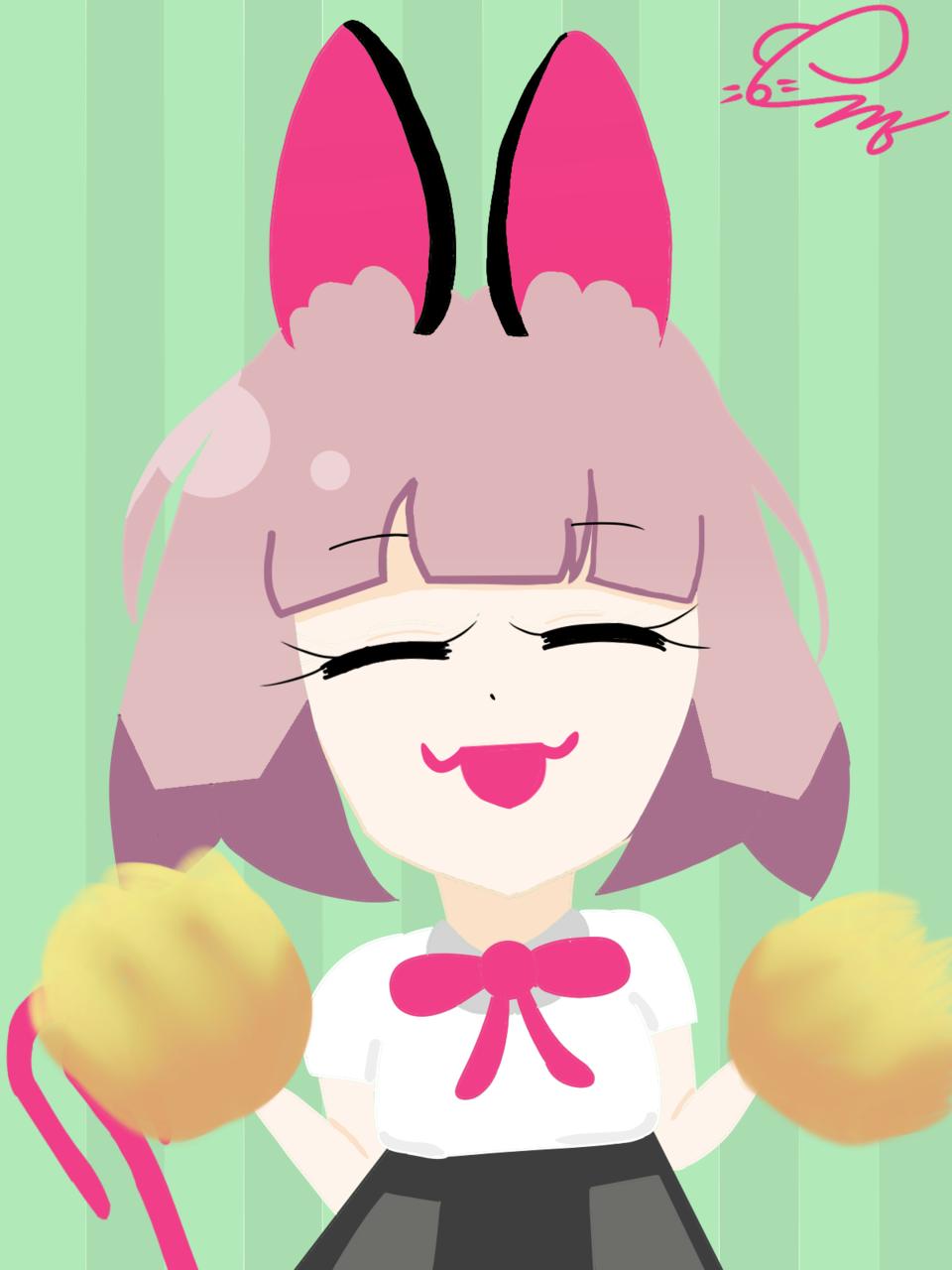MeiMi-Chan Illust of 💜셴뮤🌌 medibangpaint takoyaki meimi-chan smile cheerleading