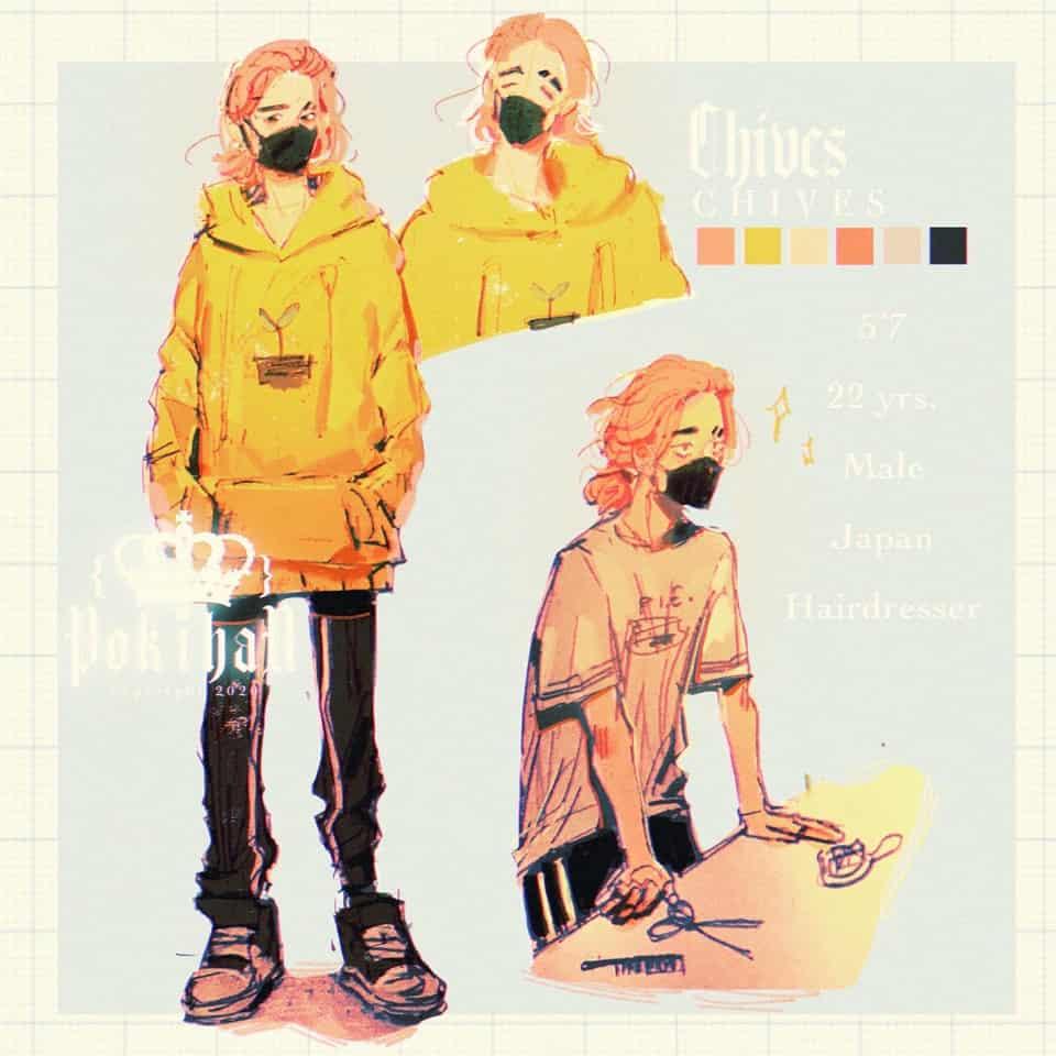 Chives redesign (again) Illust of poki.han boy character Bby oc original Ocref Ocart