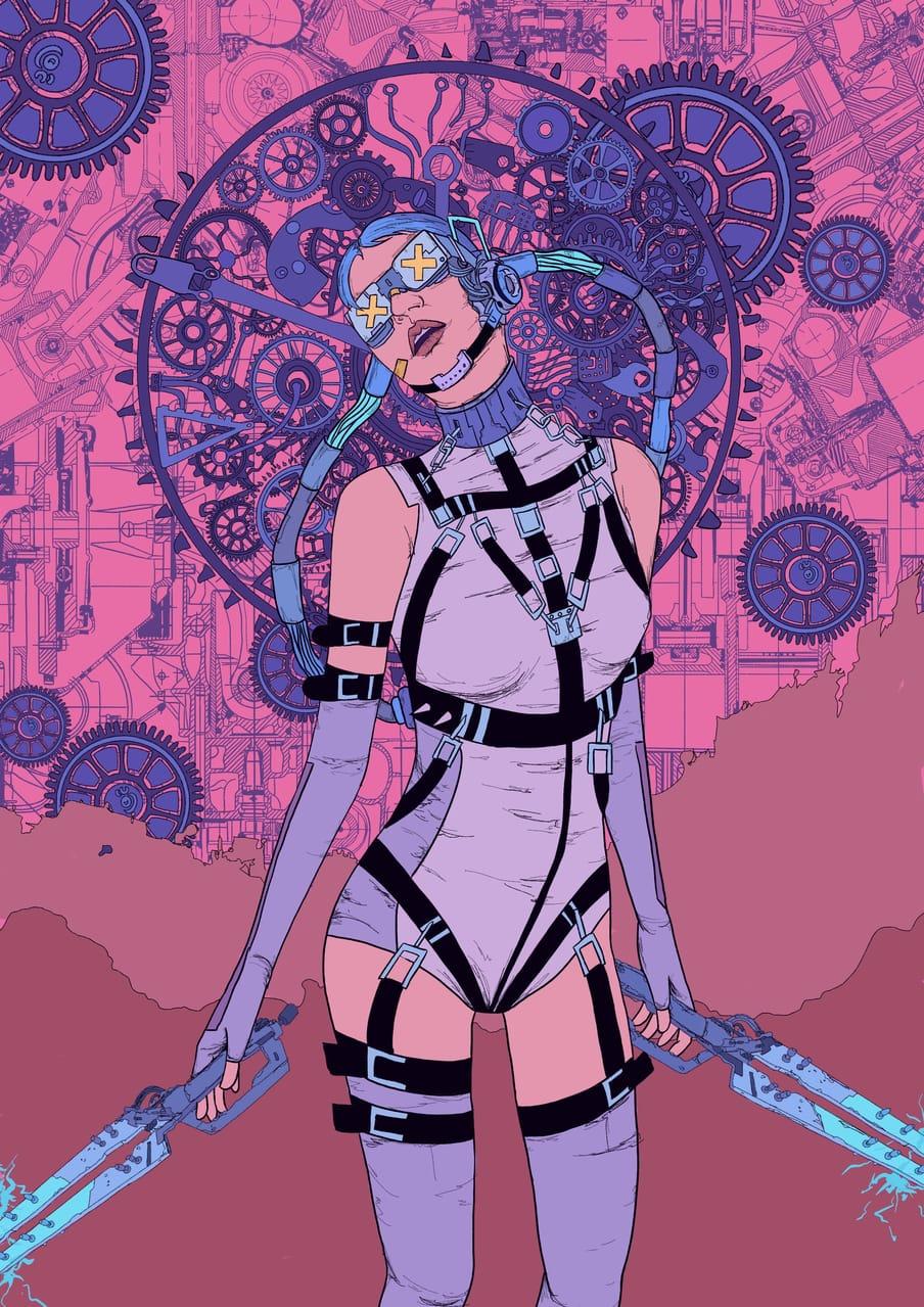 机械姬 Illust of MOMO November2020_Contest:Cyberpunk 未来