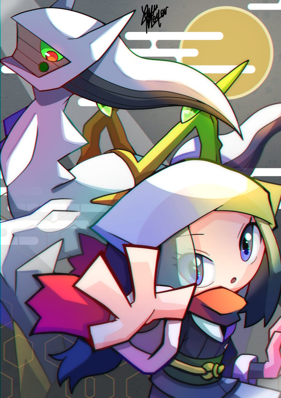 Pokemon LEGENDS アルセウス Illust of Yuyu Meyer PokémonSwordandShield game ポケモン25周年 pokemon PokemonLEGENDS