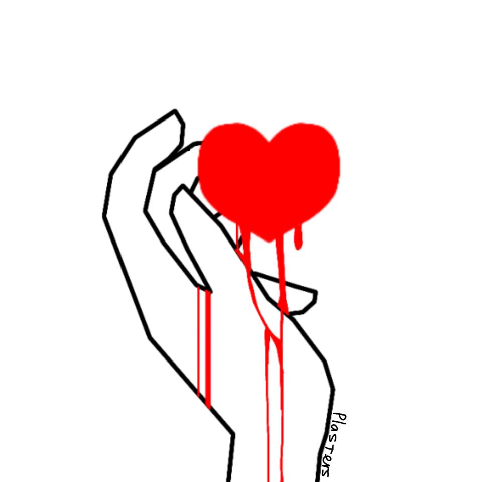Heart in hand  Illust of Plasters medibangpaint art