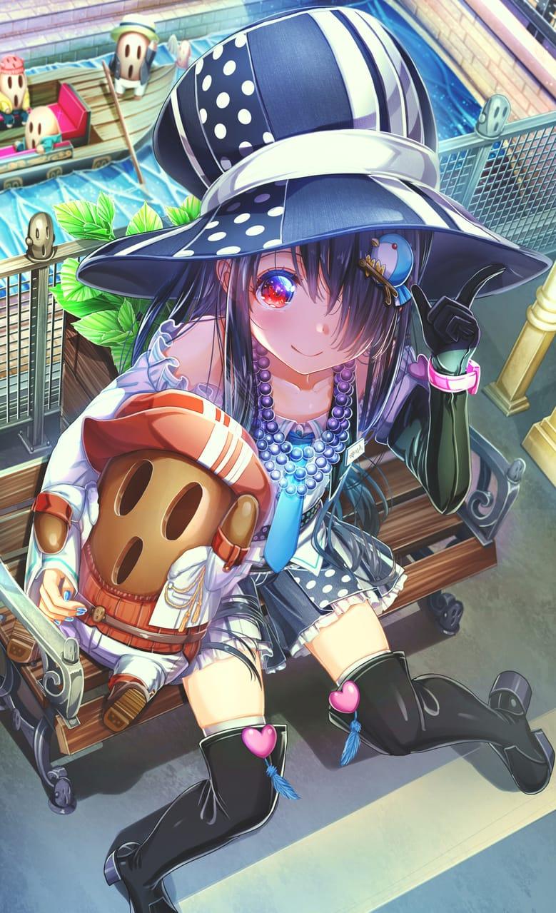 ハニワーランドデート😮 Illust of あいうあぼ girl original