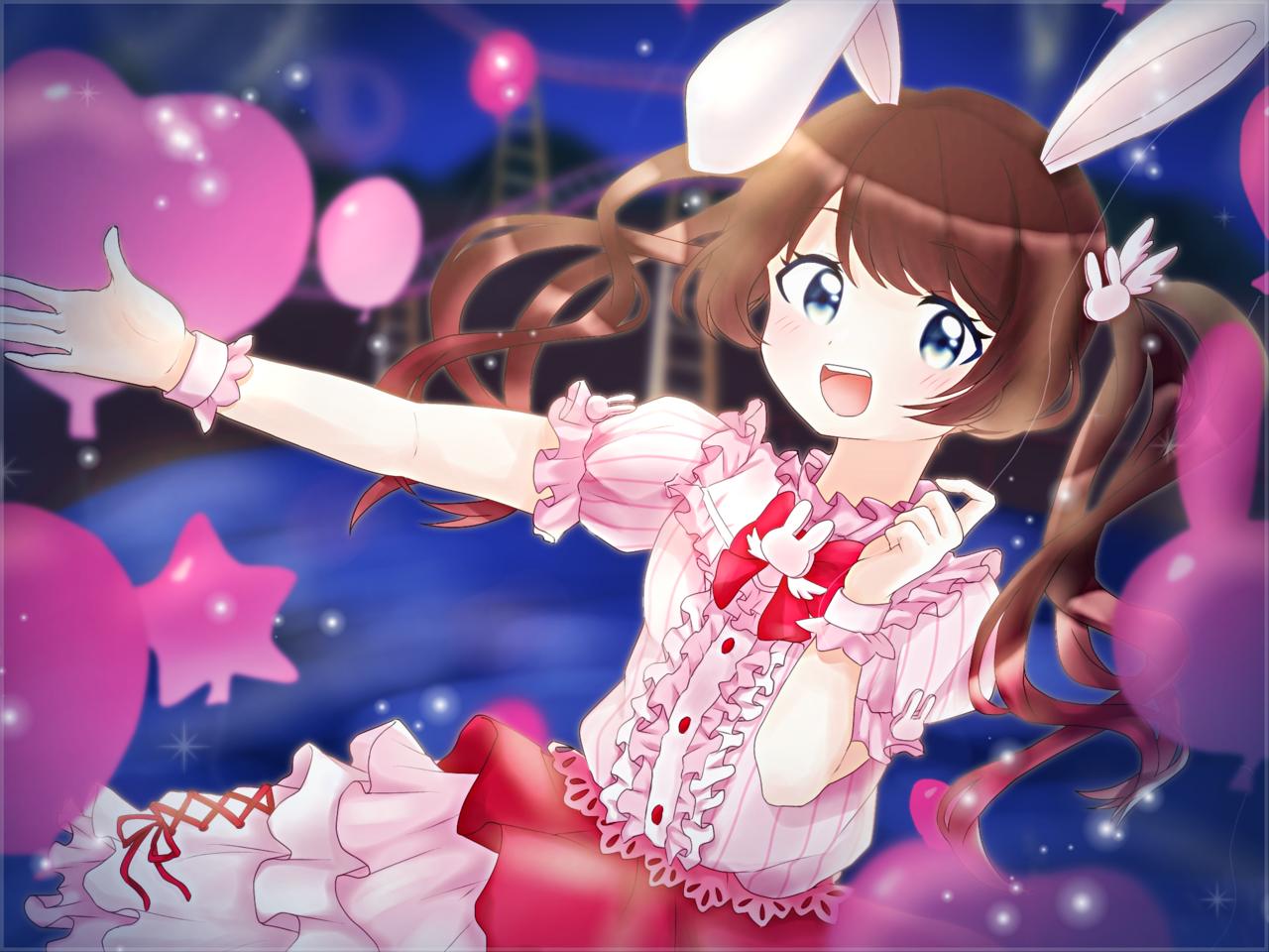 遊園地うさぎちゃん! Illust of みみ July2020_Contest:Anniversary oc girl rabbit
