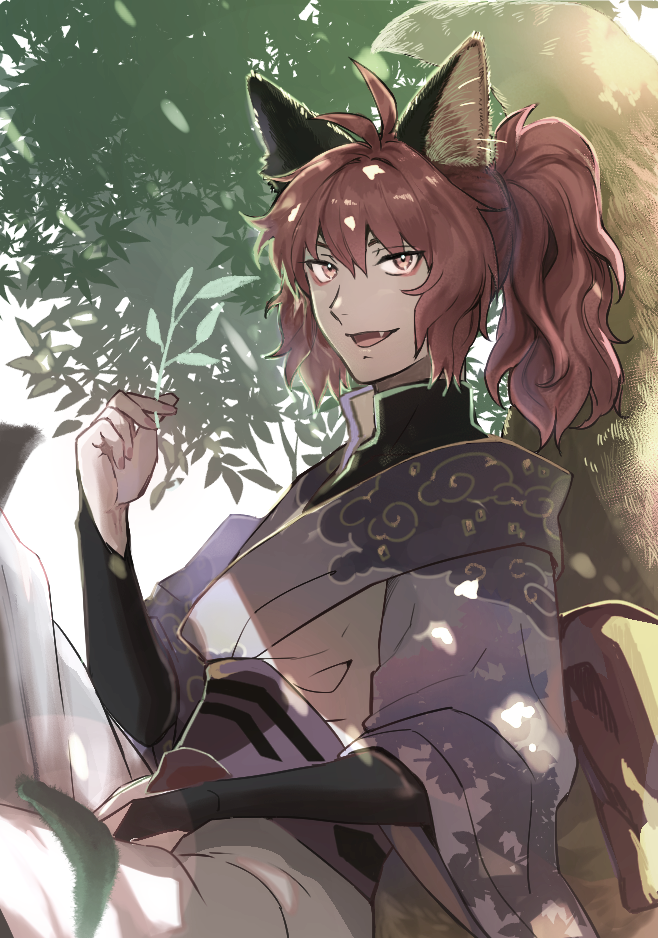 狐の青年 Illust of koyama ponytail kimono animal_ears oc fox