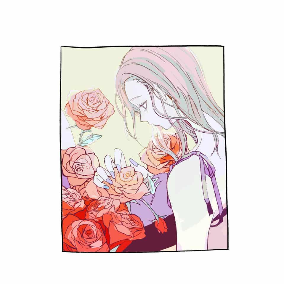 殘花終結時 Illust of Sana ARTstreet_Ranking rose illustration woman