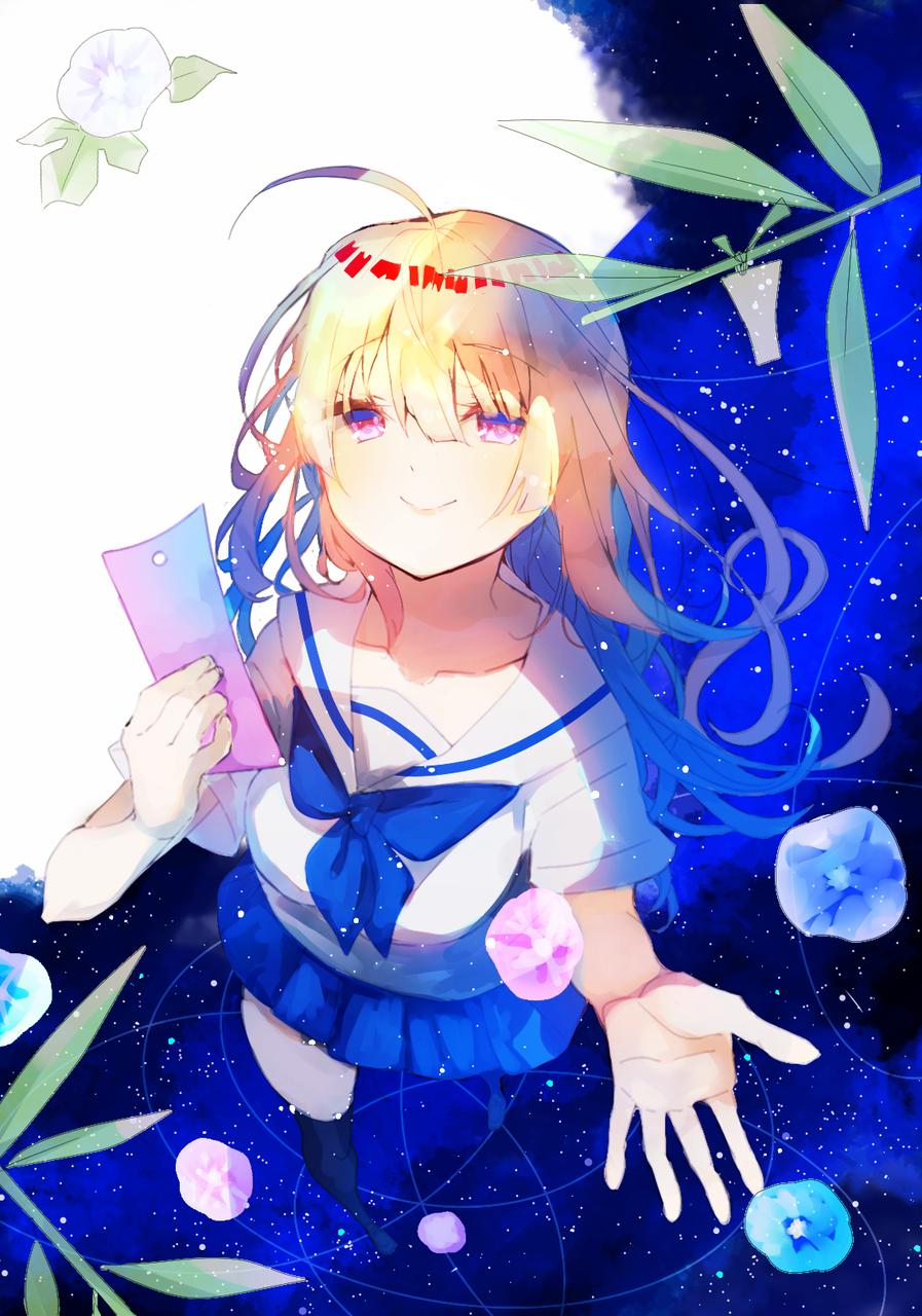 儚い願い Illust of 星奏雨 怜🐤 illustration 雨降る世界の物語 oc original オリキャライラスト medibangpaint girl blue