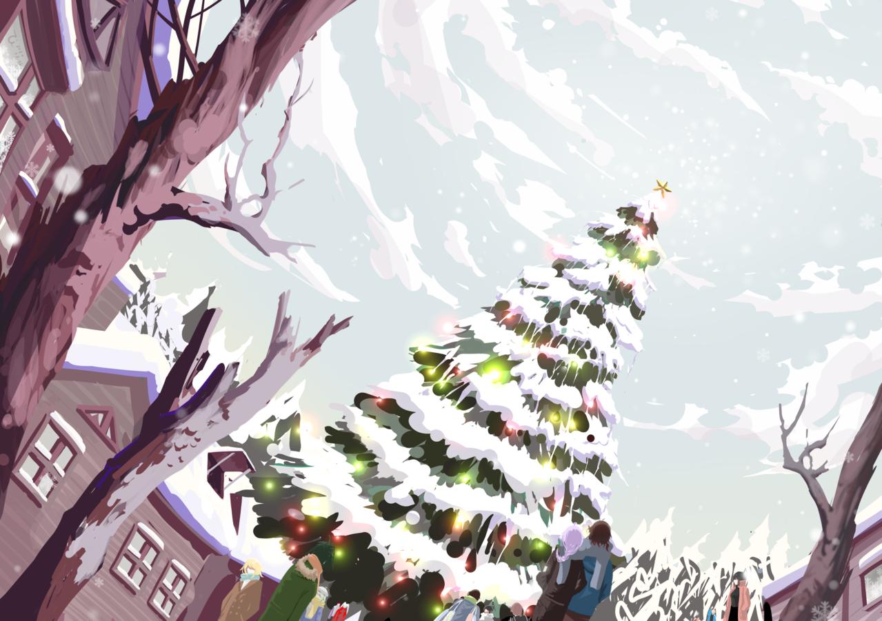 聖誕節(背景) Illust of Zi December2020_Contest:Santa Christmas original oc