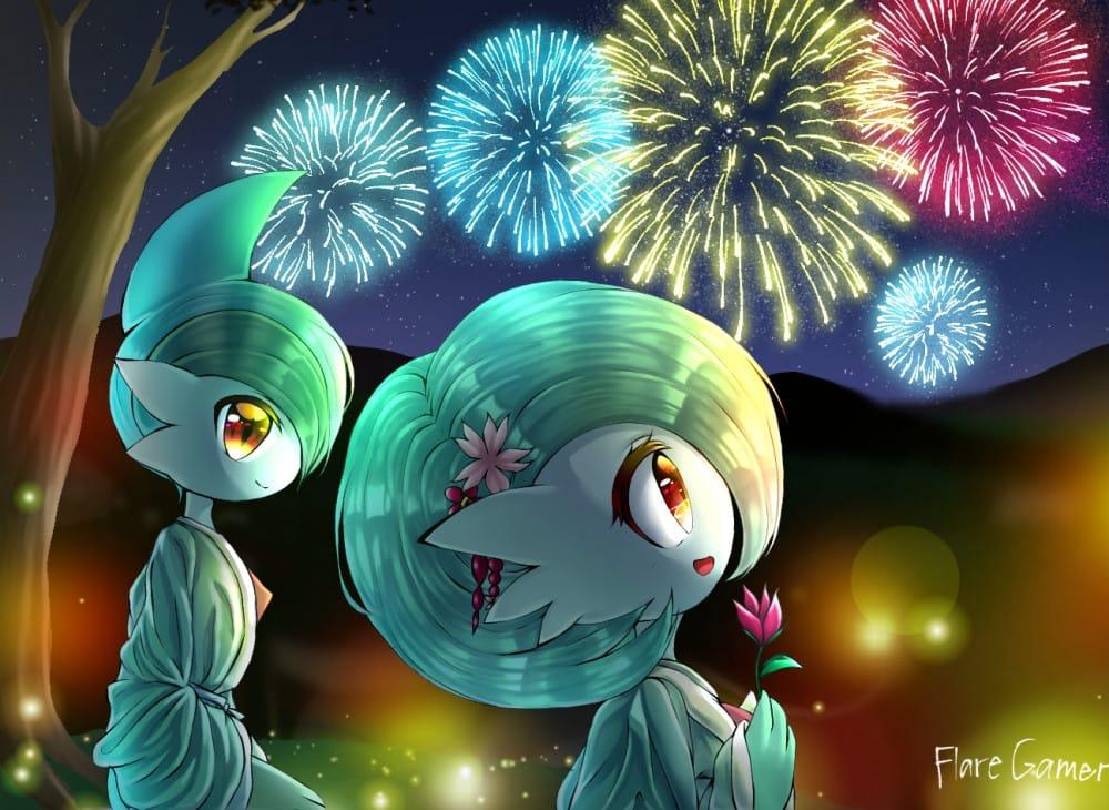 New Year Art Illust of Mii-chan(Mikasa)|Remus Mode Fireworks NewYear2021