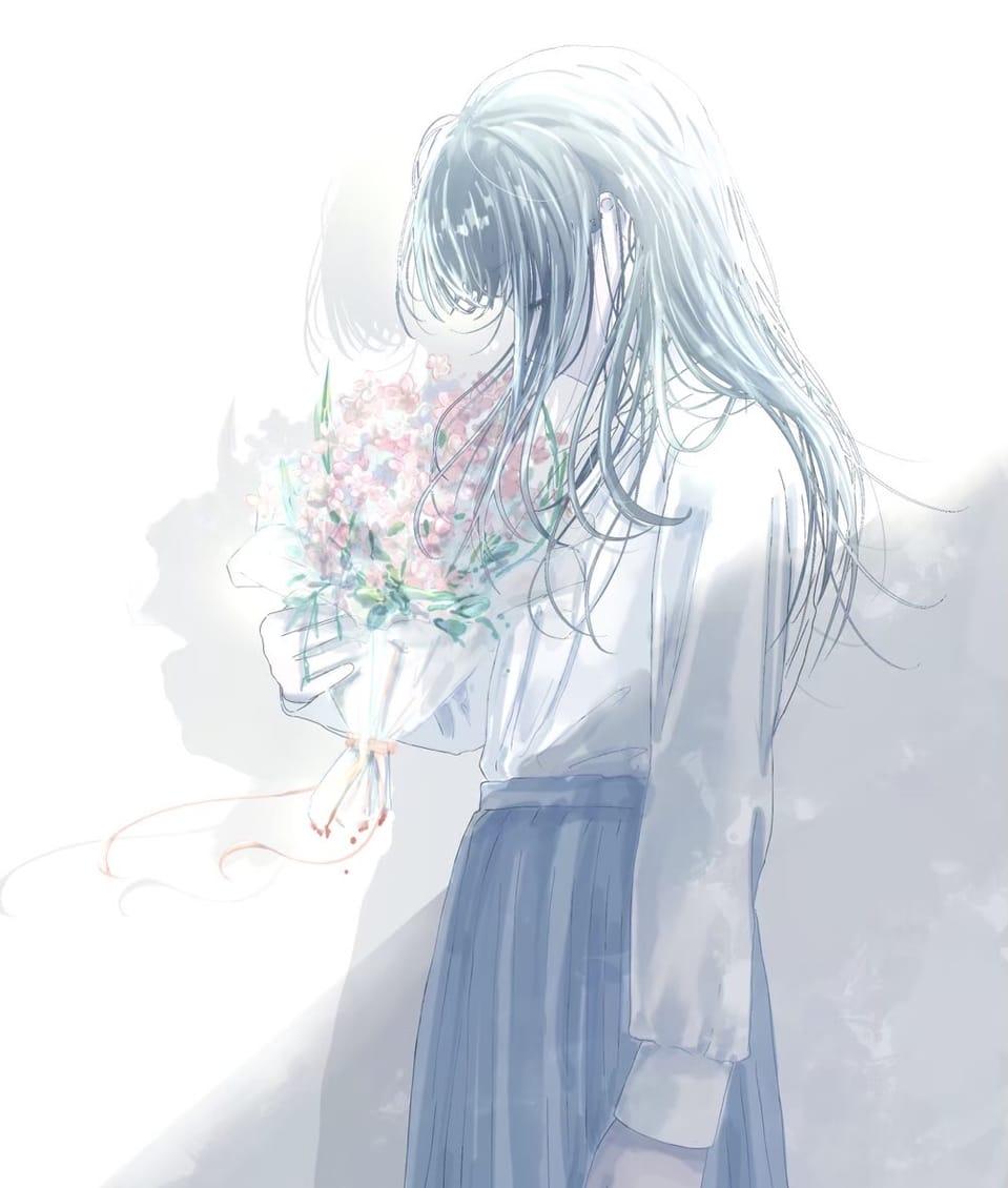 春の香り Illust of 熊谷のの April2021_Flower 春 花束 girl