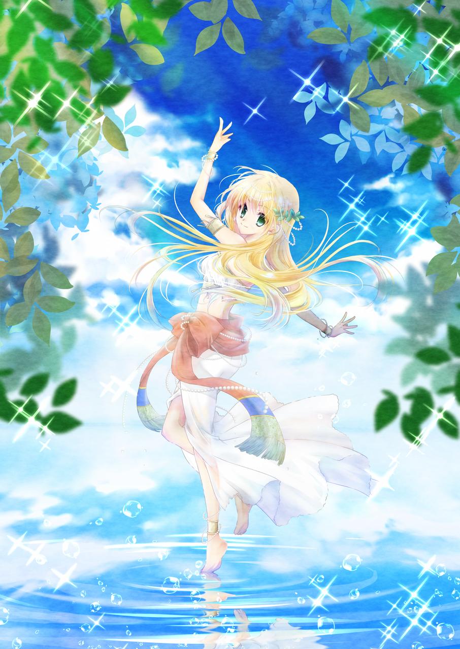 蒼の踊り子 Illust of 蒼さかな Original_Illustration_Contest medibangpaint original girl blonde sky
