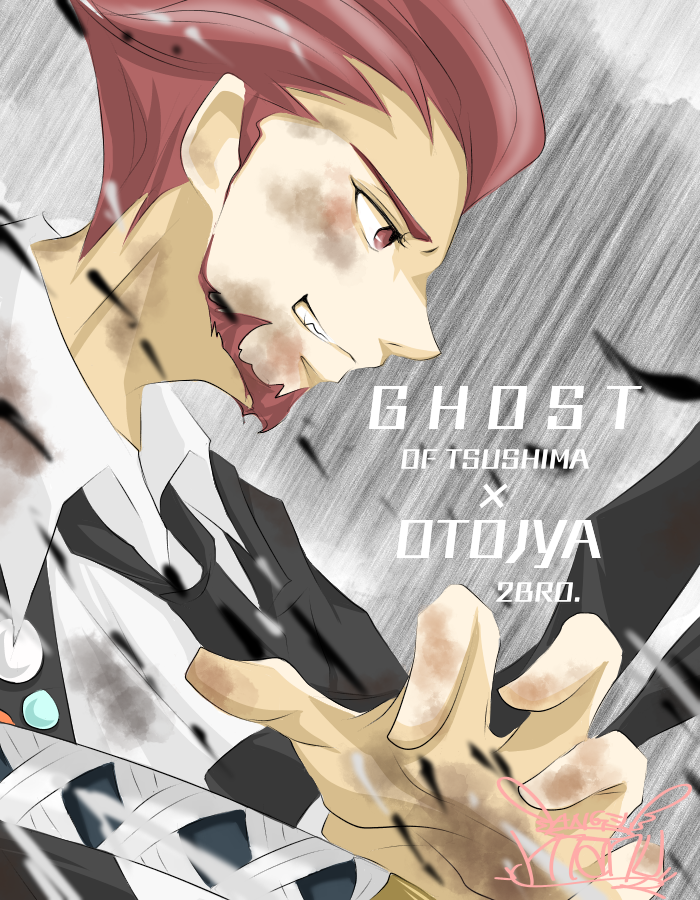 2BRO. 弟者さん♪(OTOJYA♪) Illust of Manu red ゴーストオブツシマ 刀 弟者 YouTuber ゲーム実況者 かっこいい 兄者弟者 2BRO. suit