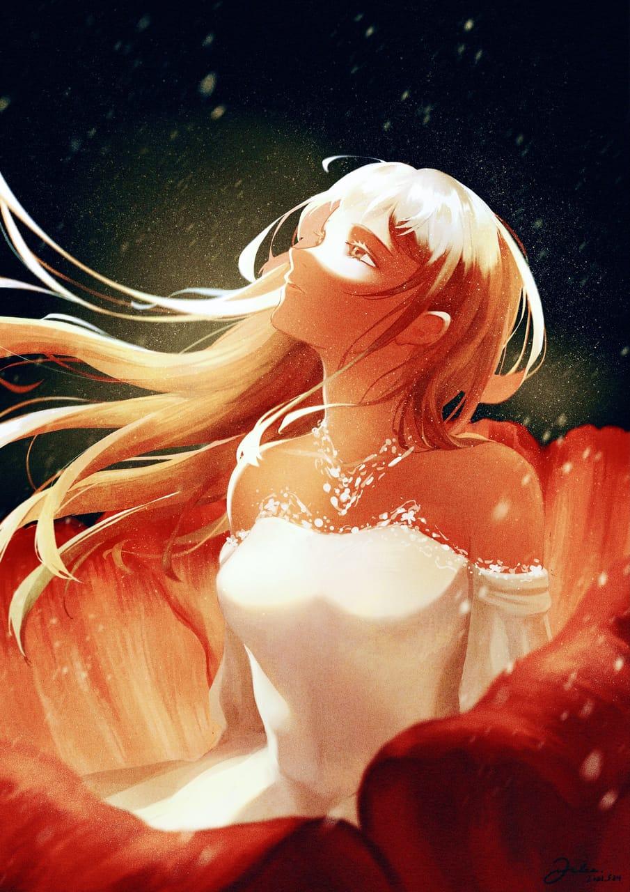 Blossom from the dust 塵埃裡開出花來 Illust of JuneLee April2021_Flower art painting digital drawing procreate