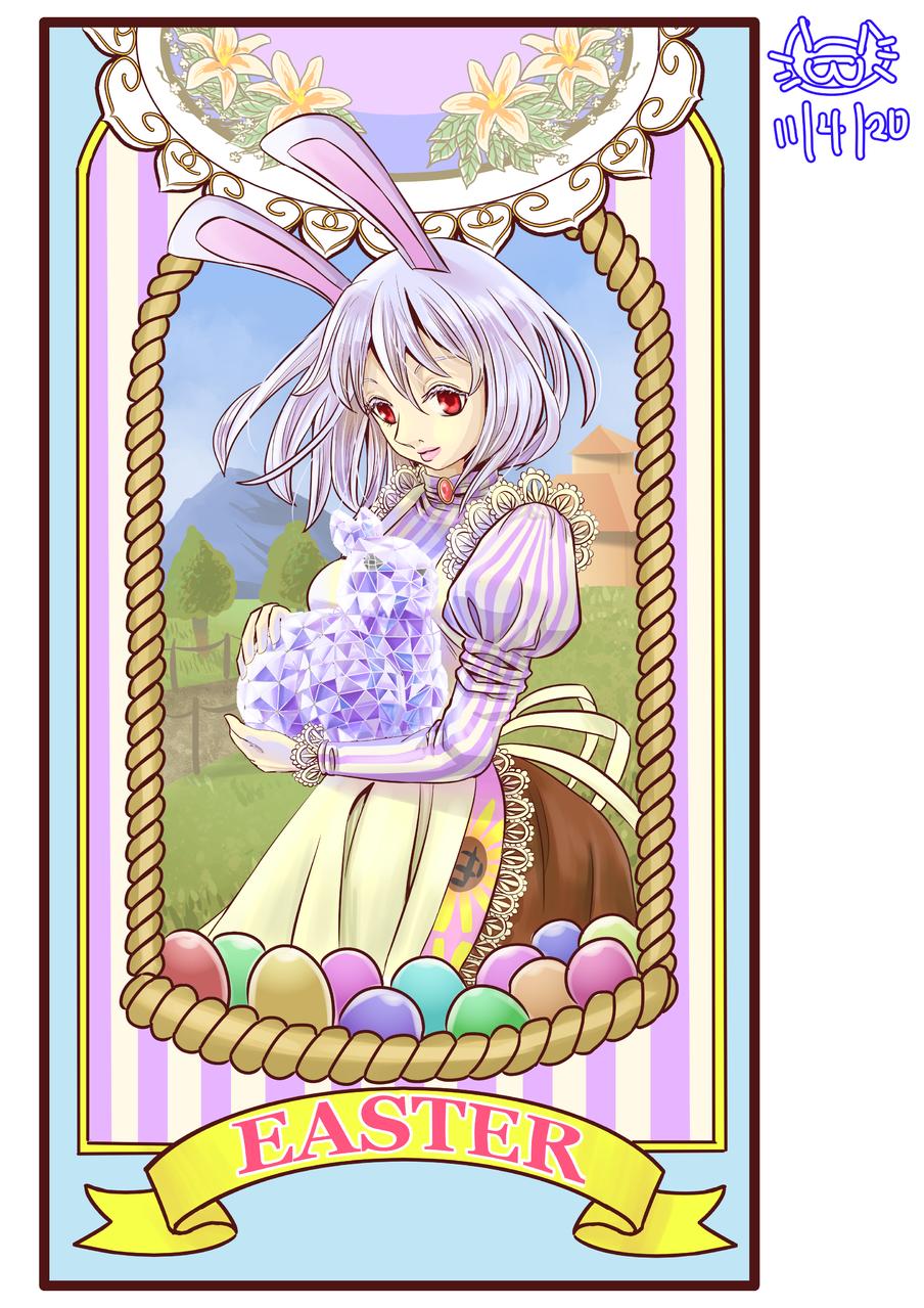 MEDIBANG比赛-0320-复活节 Illust of YAN镜猫 March.2020Contest:Easter 兔女郎 rabbit 鸡蛋 复活节 easter 水晶 YAN镜猫