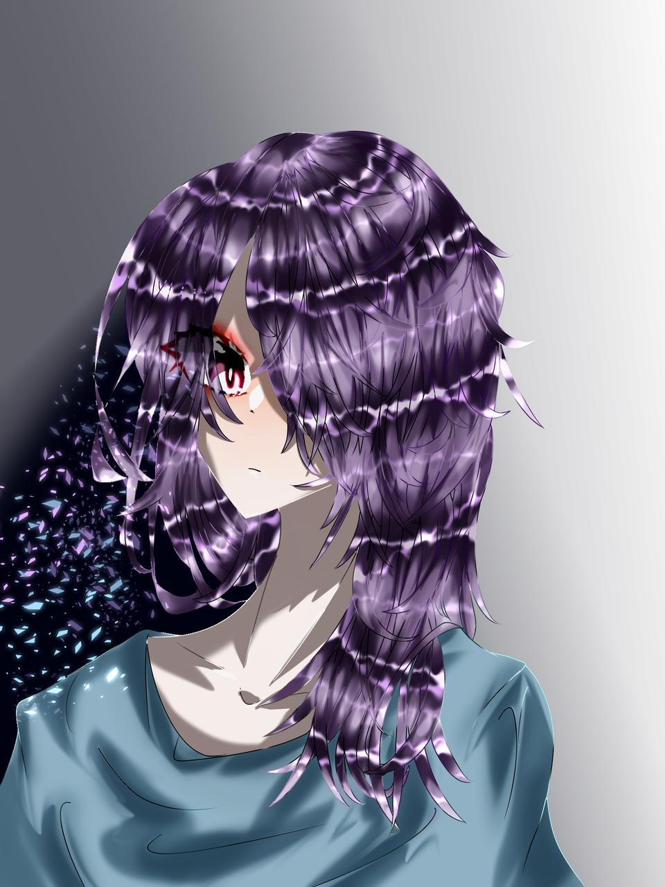 お久しぶりの投稿です!! Illust of 如月来蕾 medibangpaint purple girl 塾 部活 夏期講習 破片