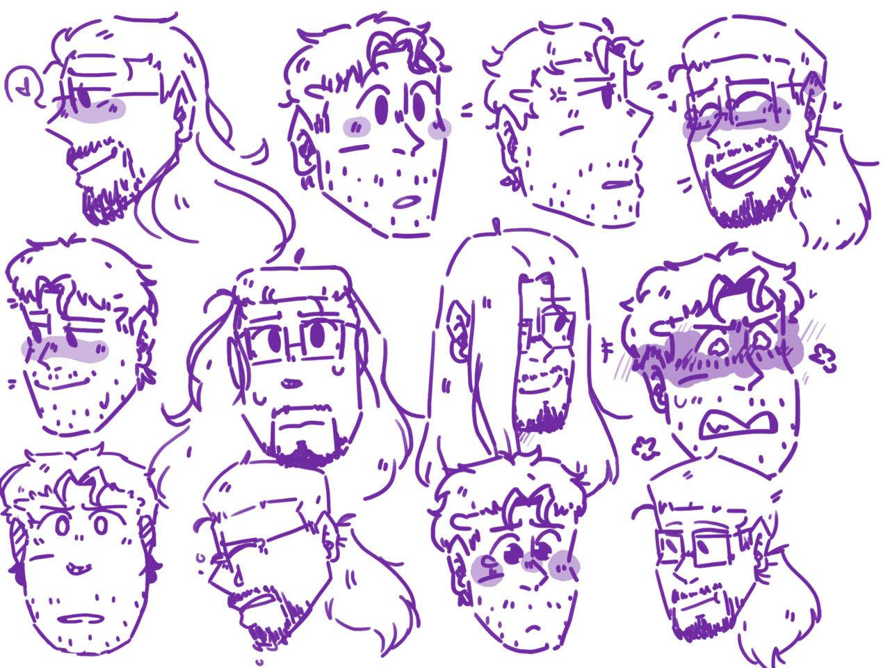 haha testing a style- doodles of the bois- Illust of Hai Bai thingy doodles random