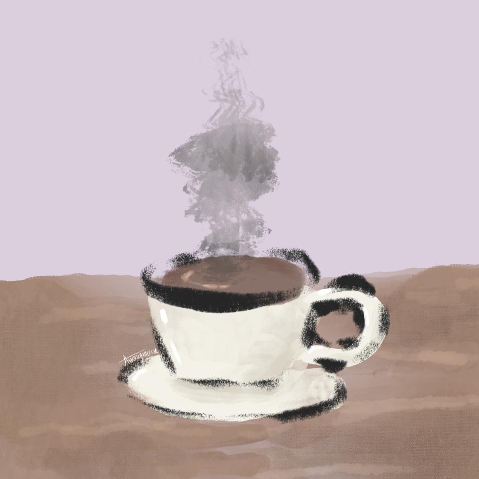 coffee ☕️ Illust of AnonymouseSaysHoooi daily_doodlez coffee messy