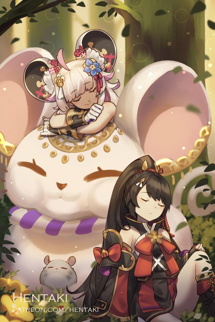My favorite works of 2020 | Part I Illust of Hentaki Coco digital anime dragalialostfanart Collection game DragaliaLost