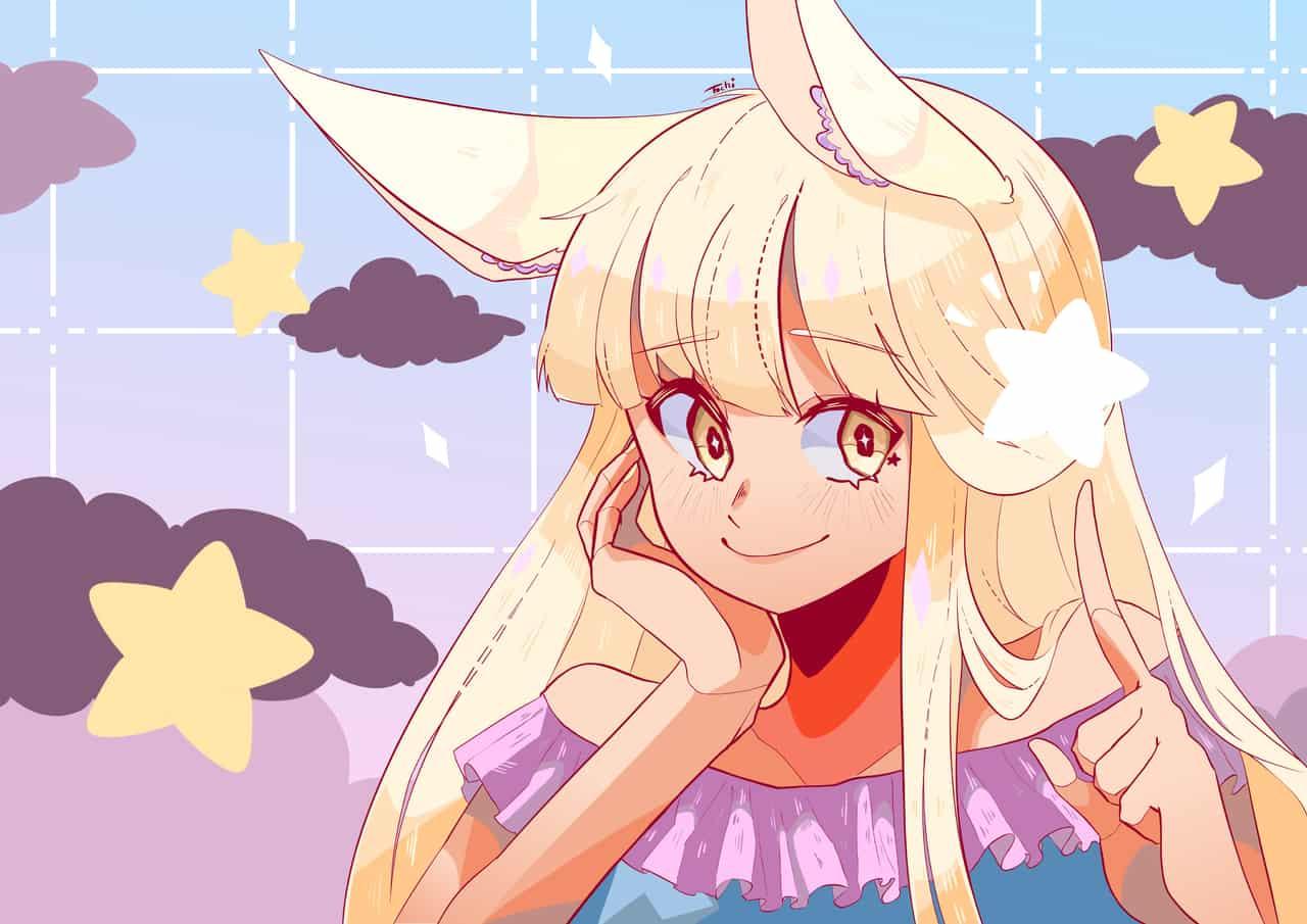 Star ⭐️ Illust of Tochi sketch dessin drawing star manga art doodle bunnygirl medibangpaint anime