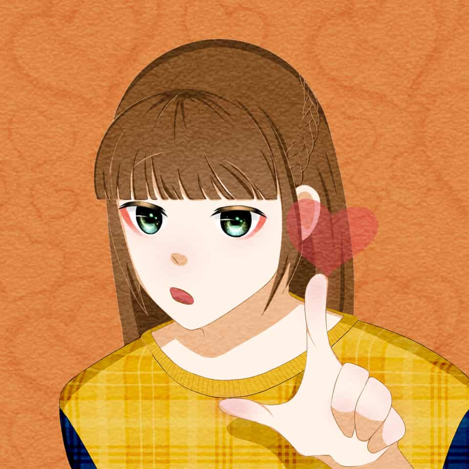 (FREE PFP!) Heart Girl 💗 Illust of ohyuohyuewan cute girl freeprofilepic anime
