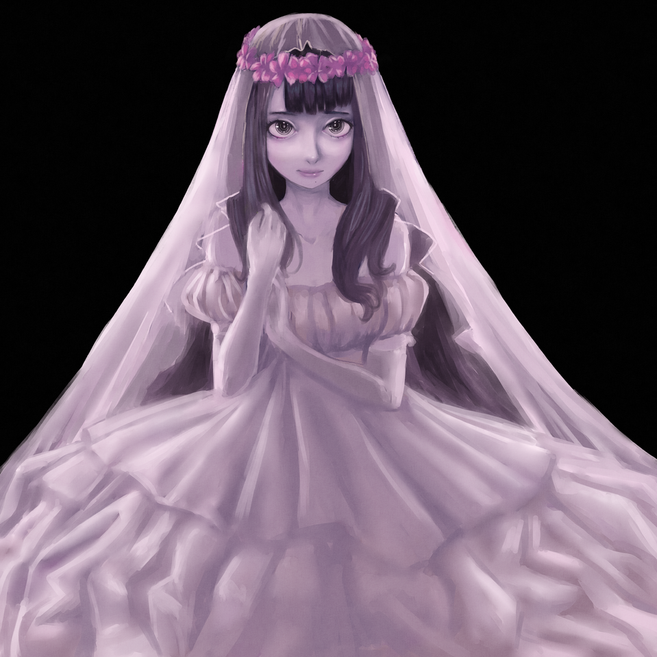 wedding dress Illust of Ginka-jack girl flower